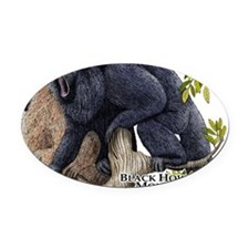 Black Howler Monkeys Oval Car Magnet