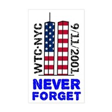never-forget-12x12-tshirt Decal