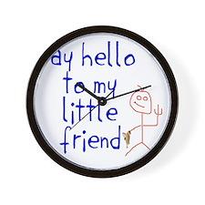 Say hello png Wall Clock