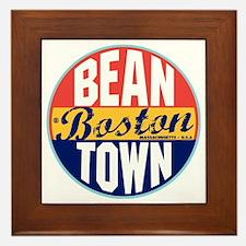 Boston Vintage Label W Framed Tile
