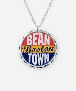 Boston Vintage Label W Necklace
