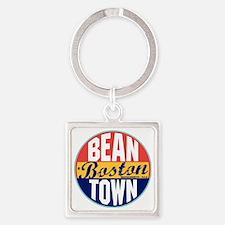 Boston Vintage Label W Square Keychain