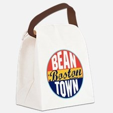 Boston Vintage Label W Canvas Lunch Bag