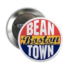 "Boston Vintage Label B 2.25"" Button"