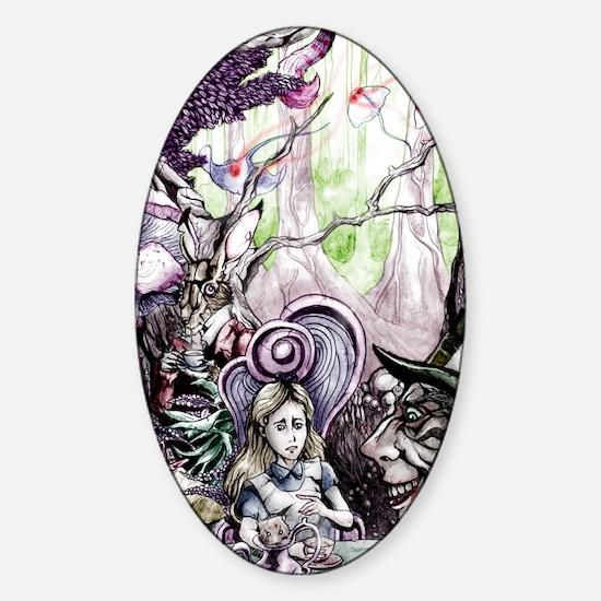 Alice in Wonderland 2 Sticker (Oval)