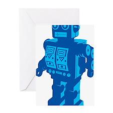 Robot Blue Greeting Card