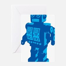 Robot Blue Greeting Card