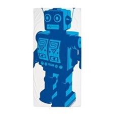 Robot Blue Beach Towel
