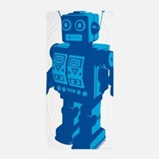 Robot Blue Beach Towel