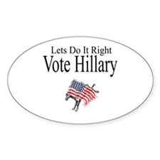 Vote For Hillary Decal