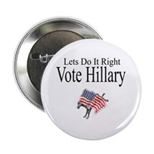 Vote For Hillary 2.25&Quot; Button (10 Pack)