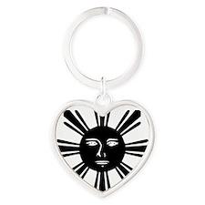1stFlag Heart Keychain