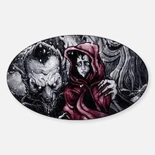 Little Red Riding Hood 2 Sticker (Oval)