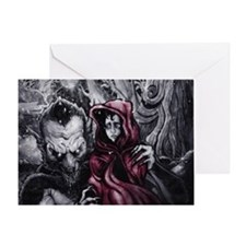 Little Red Riding Hood 2 Greeting Card