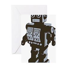 Robot Brown Greeting Card