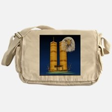 Gold Twin Towers, Eagle_pillow Messenger Bag