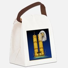 Gold Twin Towers, Eagle_pillow Canvas Lunch Bag