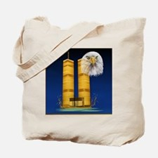 Gold Twin Towers, Eagle_pillow Tote Bag