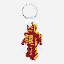 Robot Orange Keychains