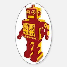 Robot Orange Sticker (Oval)