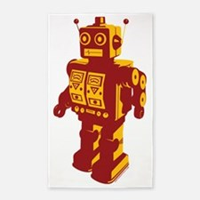 Robot Orange 3'x5' Area Rug