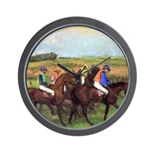 degas at the race track Wall Clock