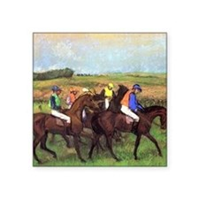 "degas at the race track Square Sticker 3"" x 3"""
