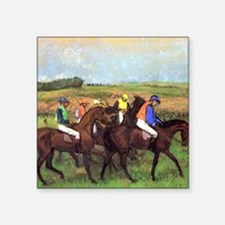 """degas at the race track Square Sticker 3"""" x 3"""""""