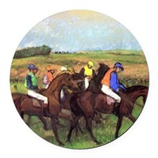 degas at the race track Round Car Magnet