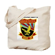 SSI -USMC-MAG 36 WITH TEXT Tote Bag