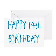 happy 14th birthday b Greeting Card