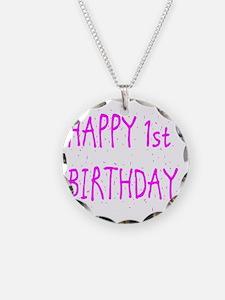 happy 1st birthday p Necklace