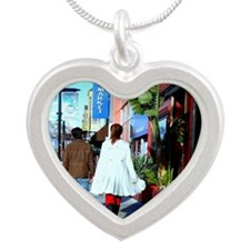 Japantown Silver Heart Necklace