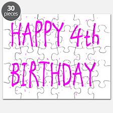 happy 4th birthday p Puzzle