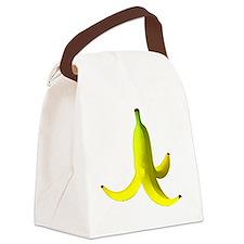 banana peel white Canvas Lunch Bag