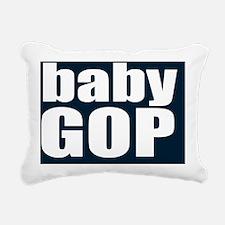 babyGOP_blue_square Rectangular Canvas Pillow