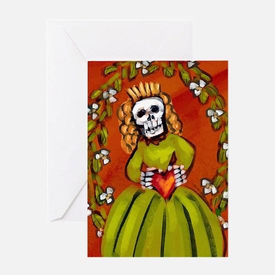 muerta_15x18v Greeting Card