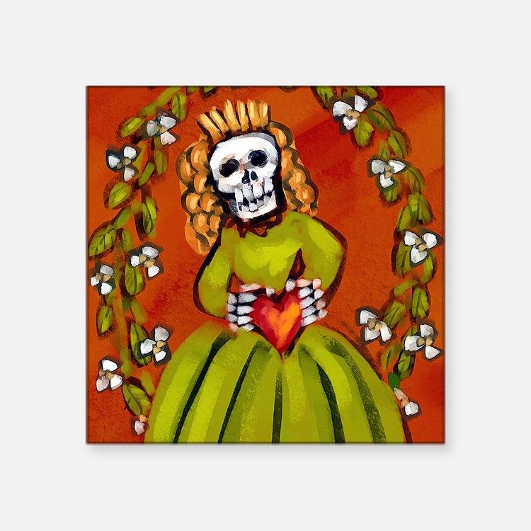 """muerta_15x18v Square Sticker 3"""" x 3"""""""