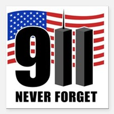 "911 Square Car Magnet 3"" x 3"""