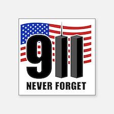"""911 Square Sticker 3"""" x 3"""""""