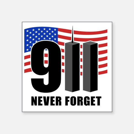 "911 Square Sticker 3"" x 3"""