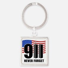 911 Square Keychain