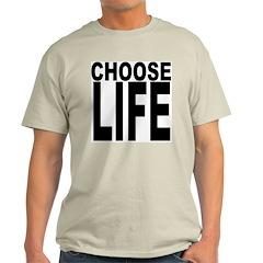Choose Life Cream T-Shirt