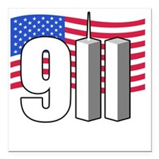 "911 -dk Square Car Magnet 3"" x 3"""