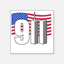"911 -dk Square Sticker 3"" x 3"""