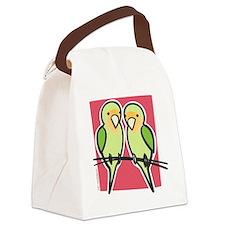 lovebirds Canvas Lunch Bag