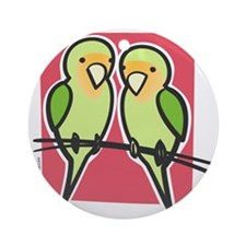 lovebirds Round Ornament