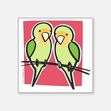 "lovebirds Square Sticker 3"" x 3"""