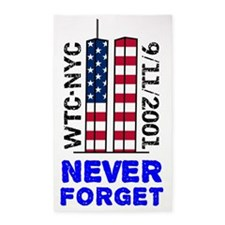 never-forget-banner 3'x5' Area Rug