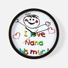 Nana This Much Wall Clock